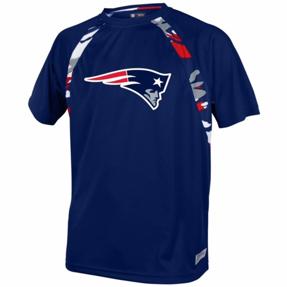 NEW ENGLAND PATRIOTS Men's Solid Camo Short-Sleeve Tee - NAVY