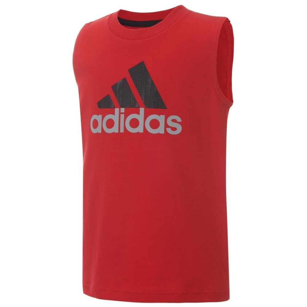 Adidas Boys Performance Muscle Tank Top - Red, 4