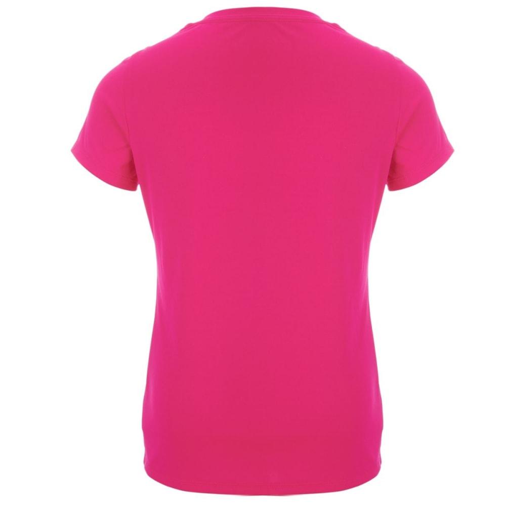 ADIDAS Girls' Graphic V-Neck Short-Sleeve Tee - SHOCK PINK-AF05