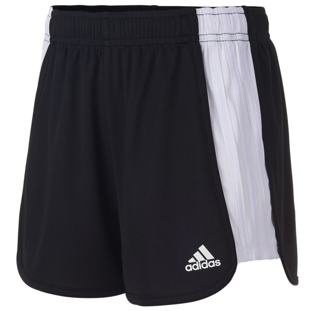 ADIDAS Girls' The Block Mesh Shorts - BLACK-K01