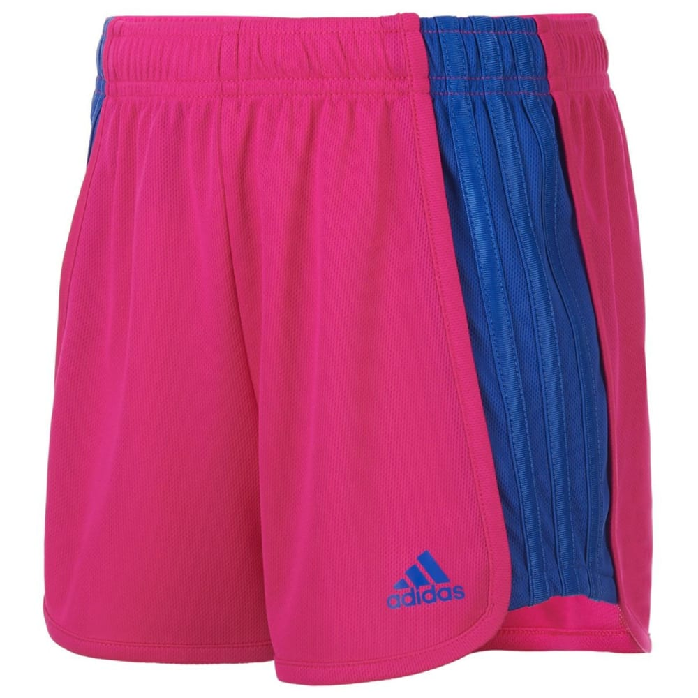 ADIDAS Girls' The Block Mesh Shorts - SHOCK PINK-AF05