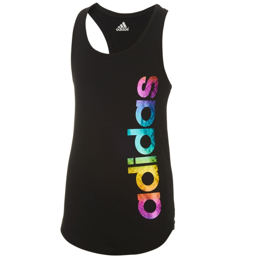 ADIDAS Girls' On The Run Tank Top - BLACK-K01