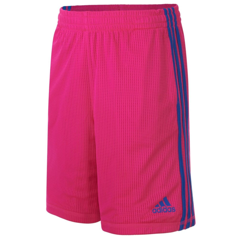 ADIDAS Girls' Triple Up Mesh Shorts - SHOCK PINK-AF05