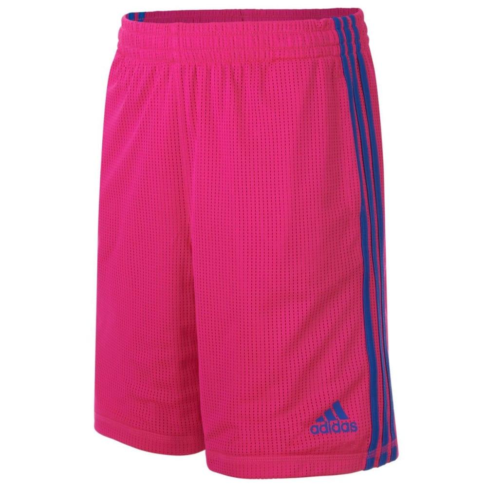 ADIDAS Girls' Triple Up Mesh Shorts - SHOCK PINK-AF05