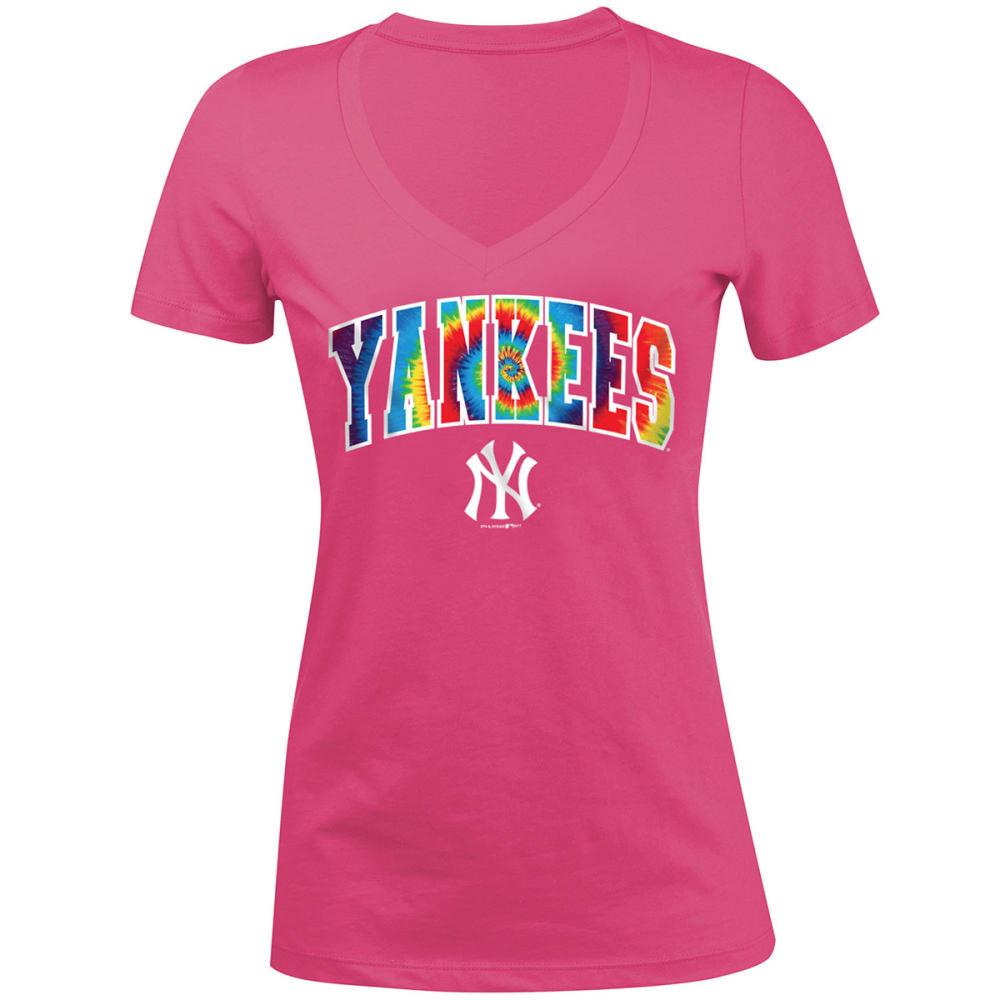 NEW YORK YANKEES Girls' Tie-Dye Short-Sleeve Tee - PINK