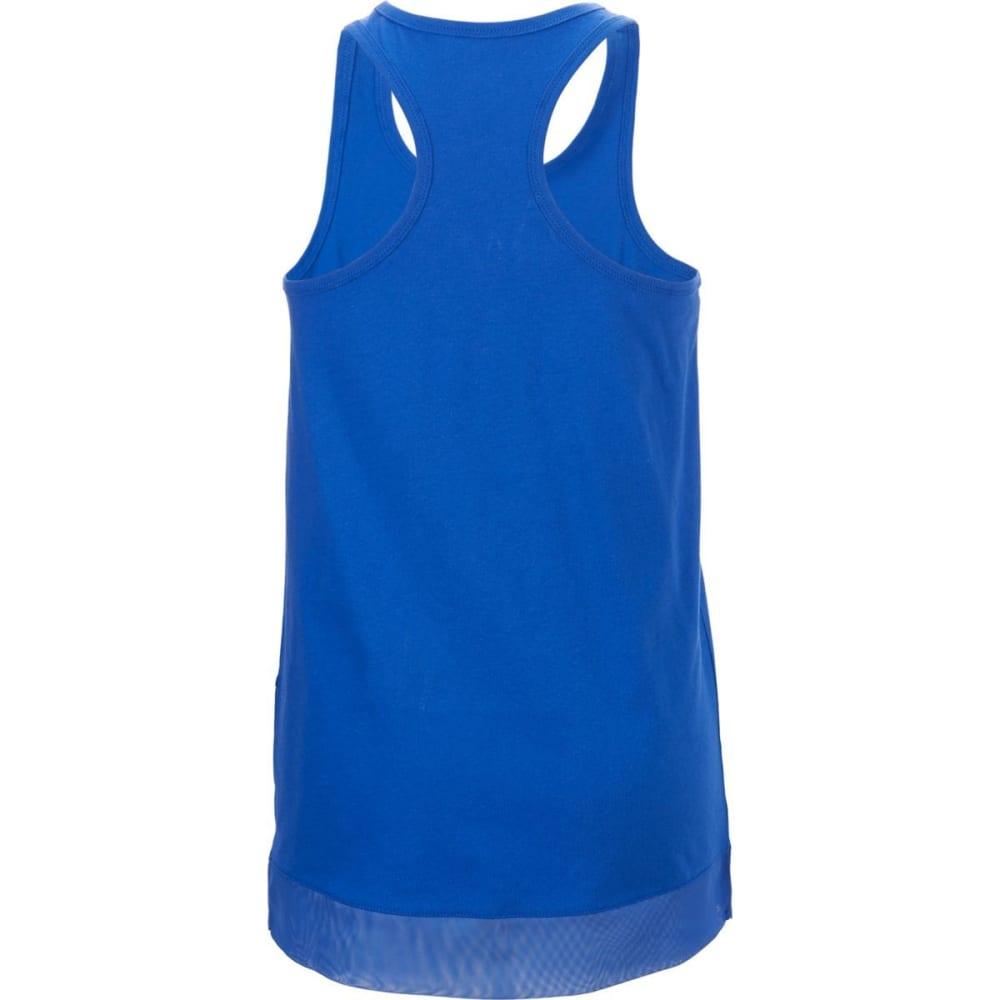 ADIDAS Girls' Three Two Run Tank - VIVID BLUE-AB01