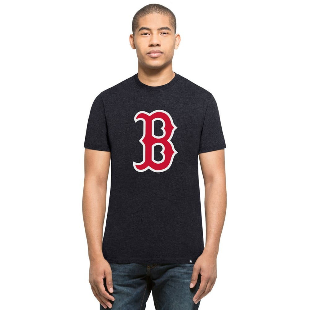 BOSTON RED SOX Men's '47 Club Logo Short-Sleeve Tee - NAVY