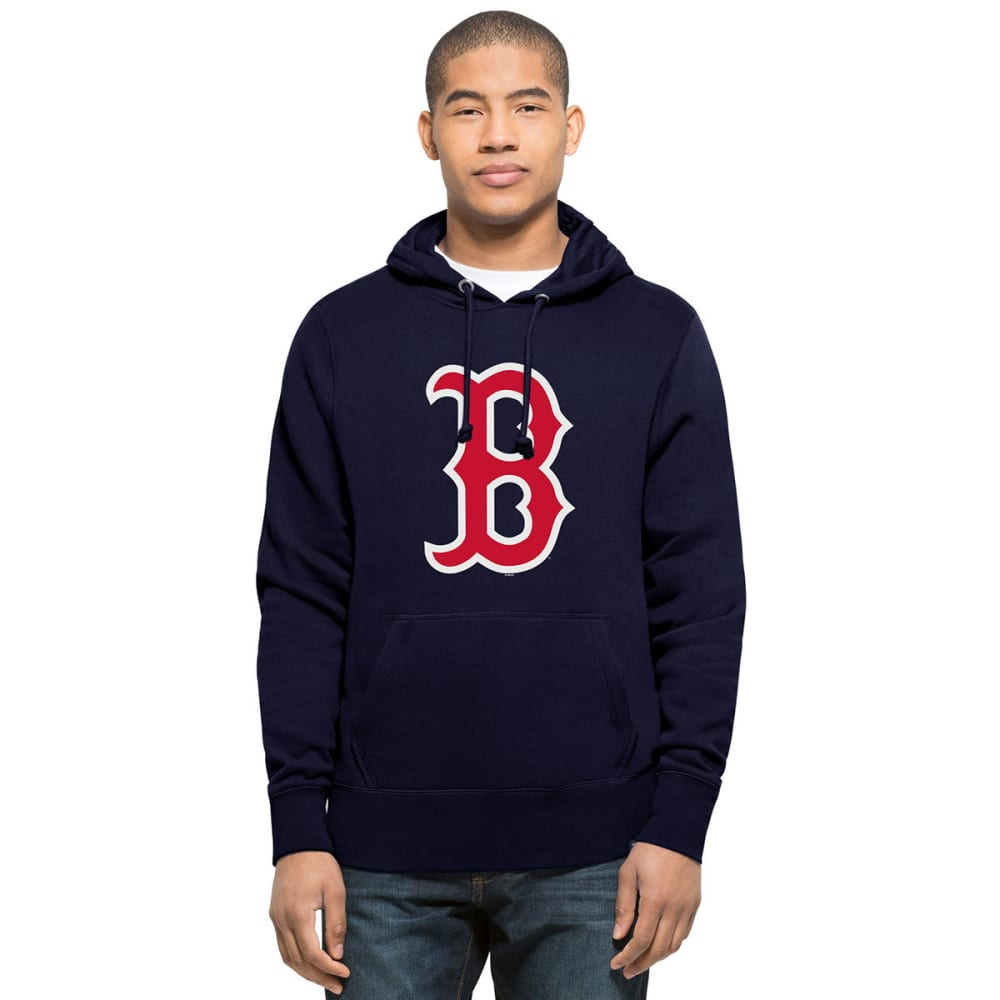 BOSTON RED SOX Men's Headline Logo Pullover Hoodie - NAVY