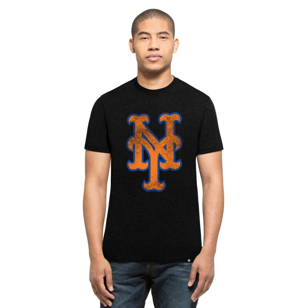 NEW YORK METS Men's Knockaround '47 Club Logo Short-Sleeve Tee - BLACK