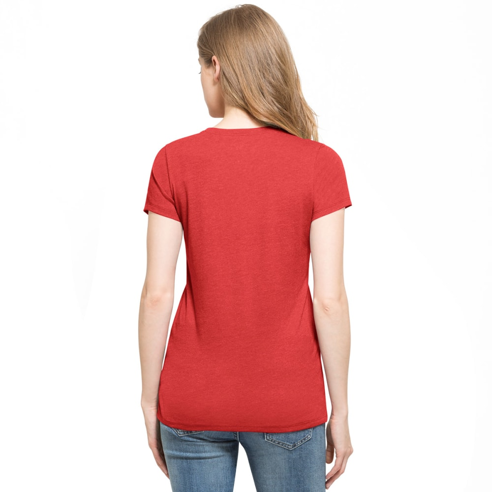 BOSTON RED SOX Women's '47 Club Red Love V-Neck Short-Sleeve Tee - RED
