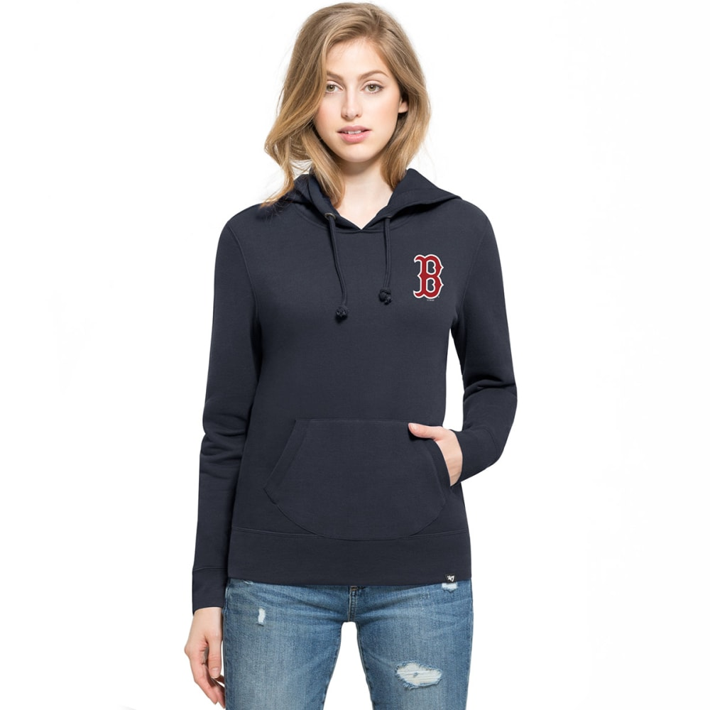 BOSTON RED SOX Women's Rundown '47 Headline Pullover Hoodie - NAVY