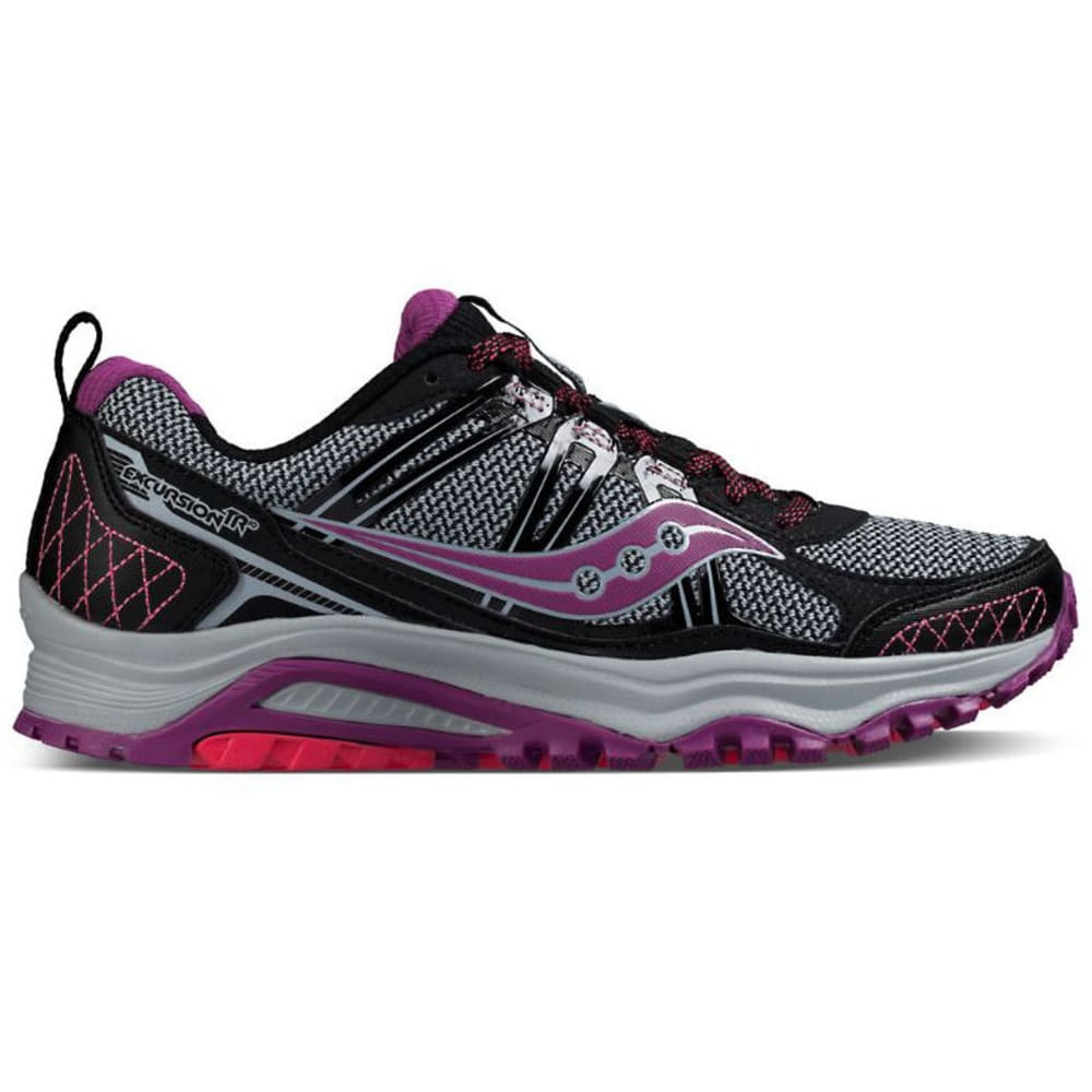 SAUCONY Women's Excursion TR10 Running Shoes - BLK/BERRY/CORAL