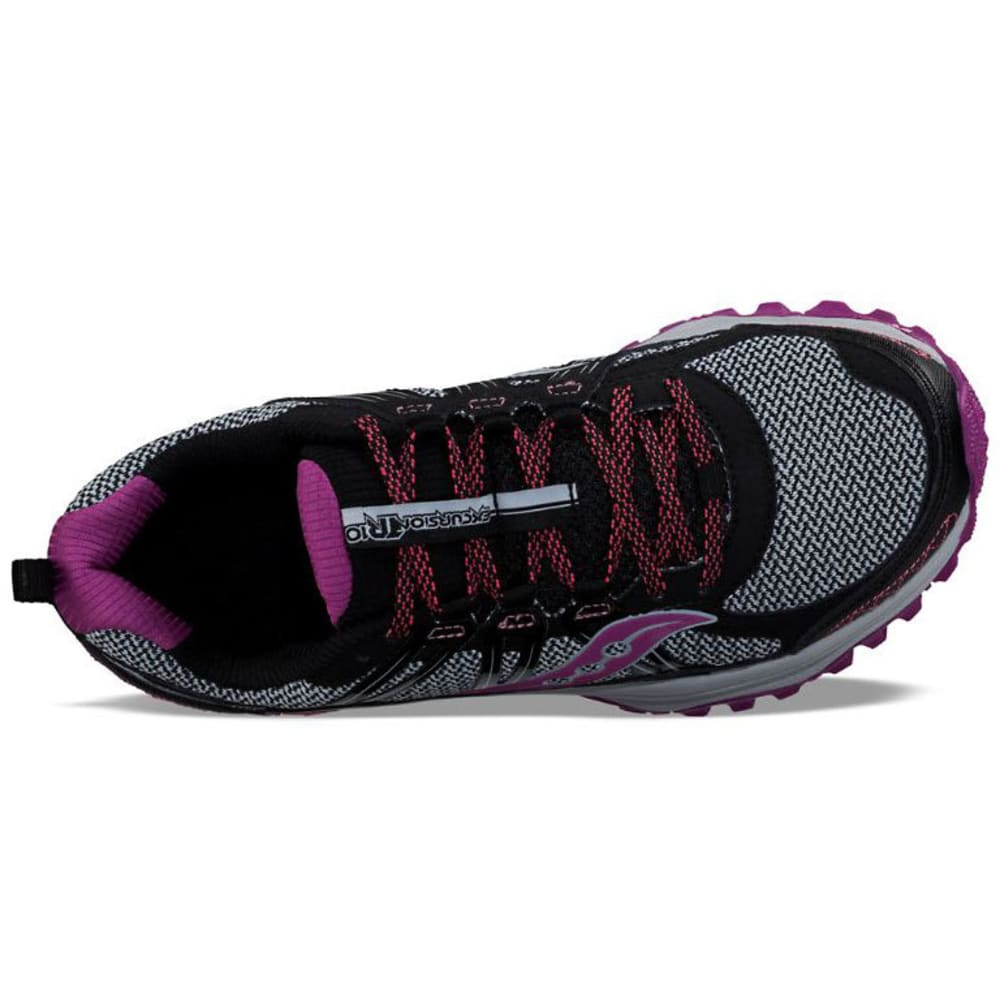 SAUCONY Women's Excursion TR10 Running Shoes, Wide - BLK/BERRY/CORAL