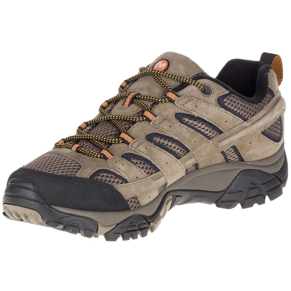 MERRELL Men's Moab 2 Ventilator Low Hiking Shoes, Walnut, Wide - WALNUT