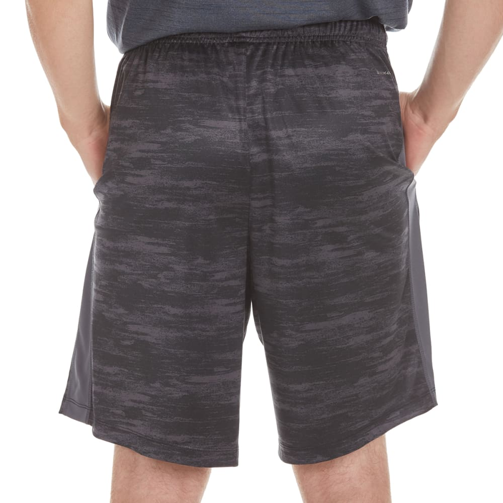 LAYER 8 Men's Printed Training Shorts - BLACK STATIC PRT-BLK