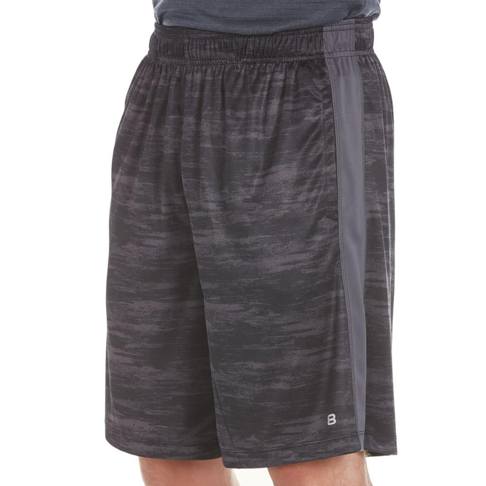 LAYER 8 Men's Printed Training Shorts - BLACK STATIC PRT-BLK