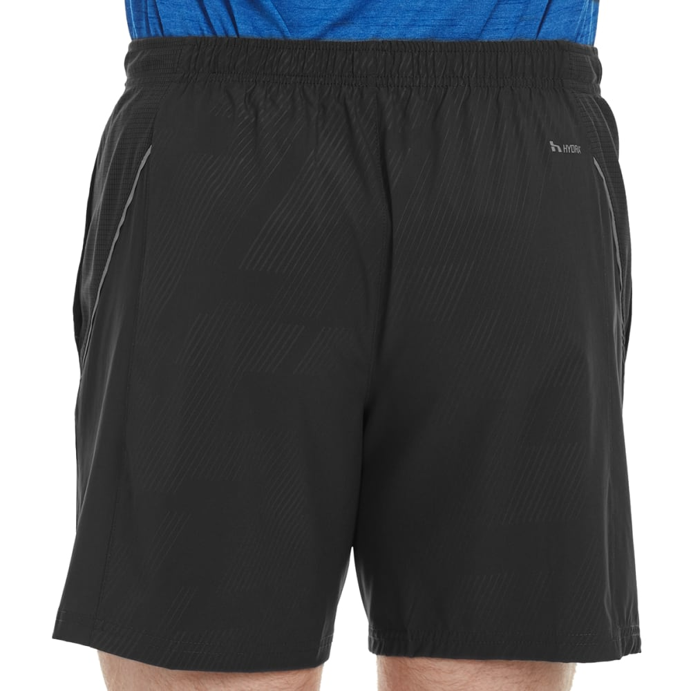 HIND Men's Solid Woven 7 in. Shorts with Briefs - RICH BLACK-RCB