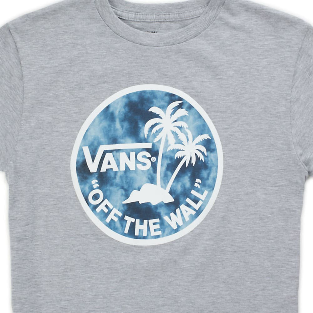 VANS Boys' Dual Palm Logo Fill Short-Sleeve Tee - ATLETICHTR/DKNSRMY