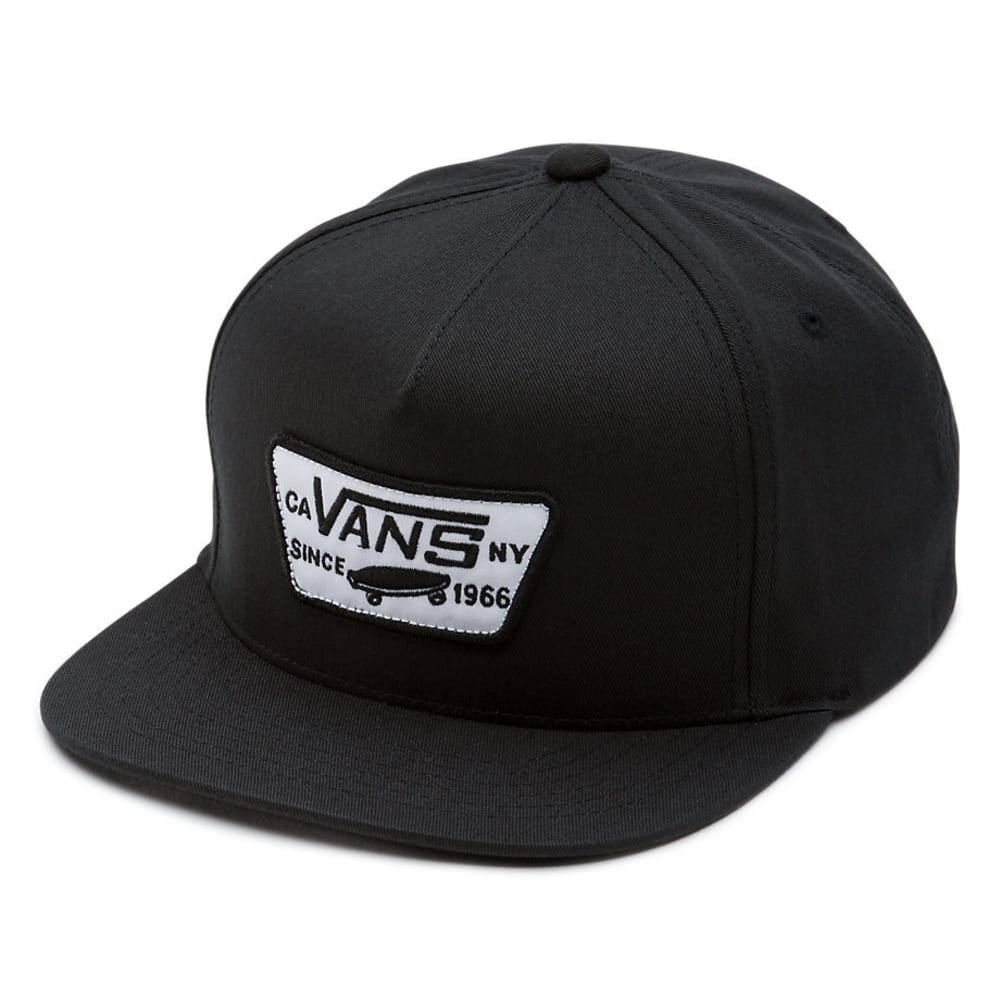 VANS Boys' Full Patch Snapback Cap - BLACK