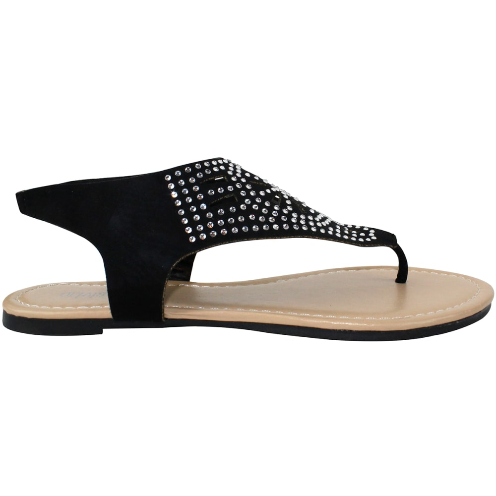 OLIVIA MILLER Women's Savona Sandals - BLACK