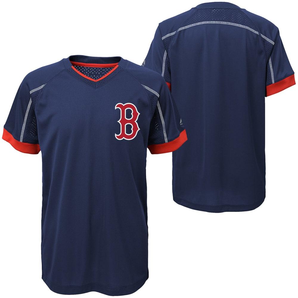 BOSTON RED SOX Boys' Emergence Crewneck Short-Sleeve Tee - NAVY