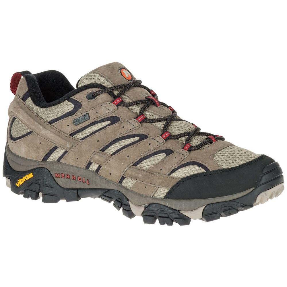 MERRELL Men's Moab 2 Waterproof Low Hiking Shoes, Wide, Bark Brown 7