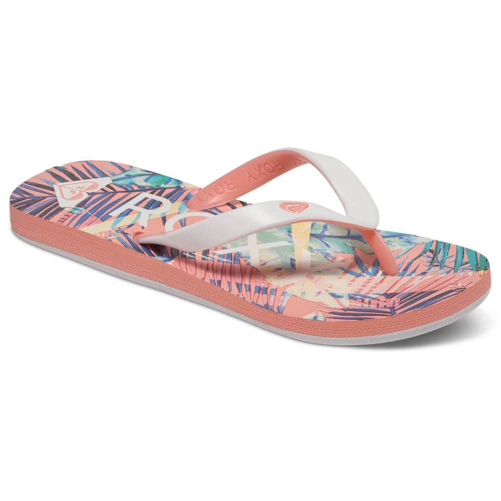 ROXY Girls' Tahiti Flip Flops - PEACH