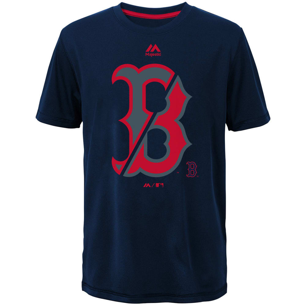 BOSTON RED SOX Boys' Split Series Ultra Short-Sleeve Tee - NAVY