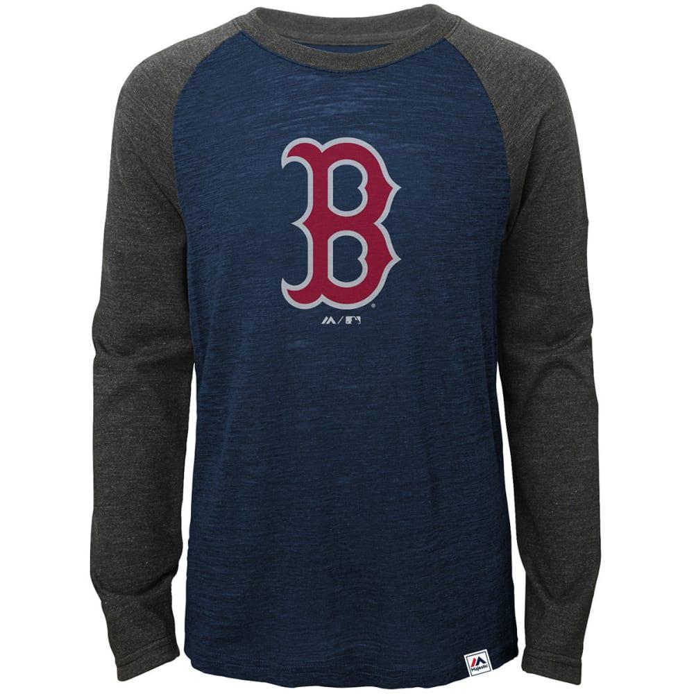 BOSTON RED SOX Boys' Grueling Ordeal Raglan Tee - NAVY