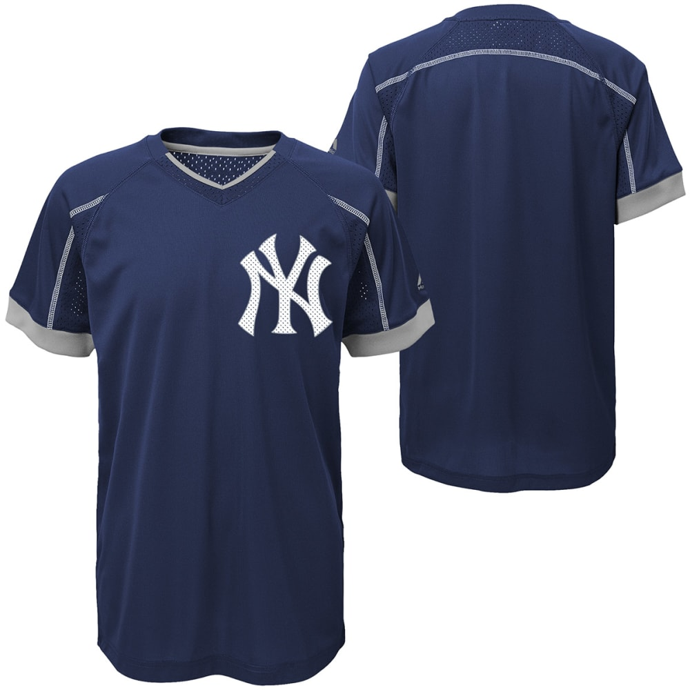 NEW YORK YANKEES Boys' Emergence Crewneck Short-Sleeve Tee - NAVY