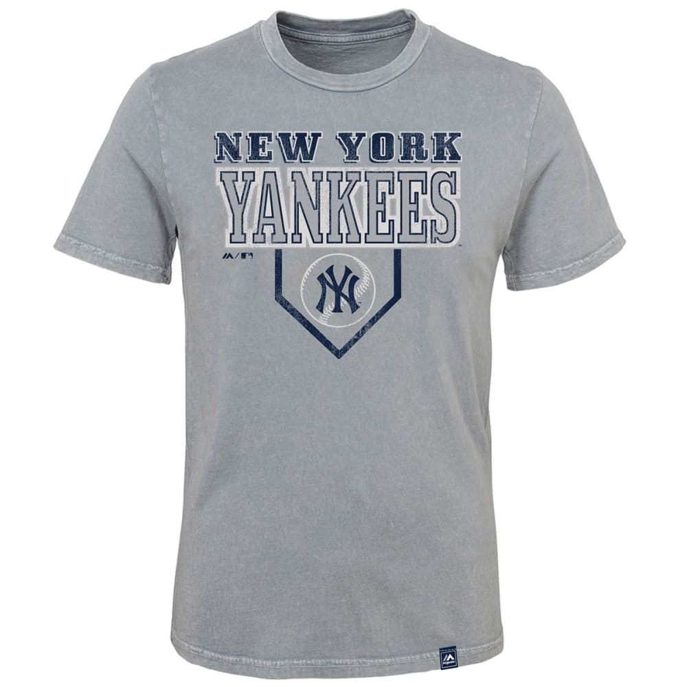 NEW YORK YANKEES Boys' Heirloom Mineral Wash Short-Sleeve Tee - GREY