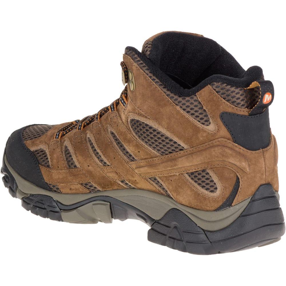 MERRELL Men's Moab 2 Mid Waterproof Hiking Boots, Earth - EARTH
