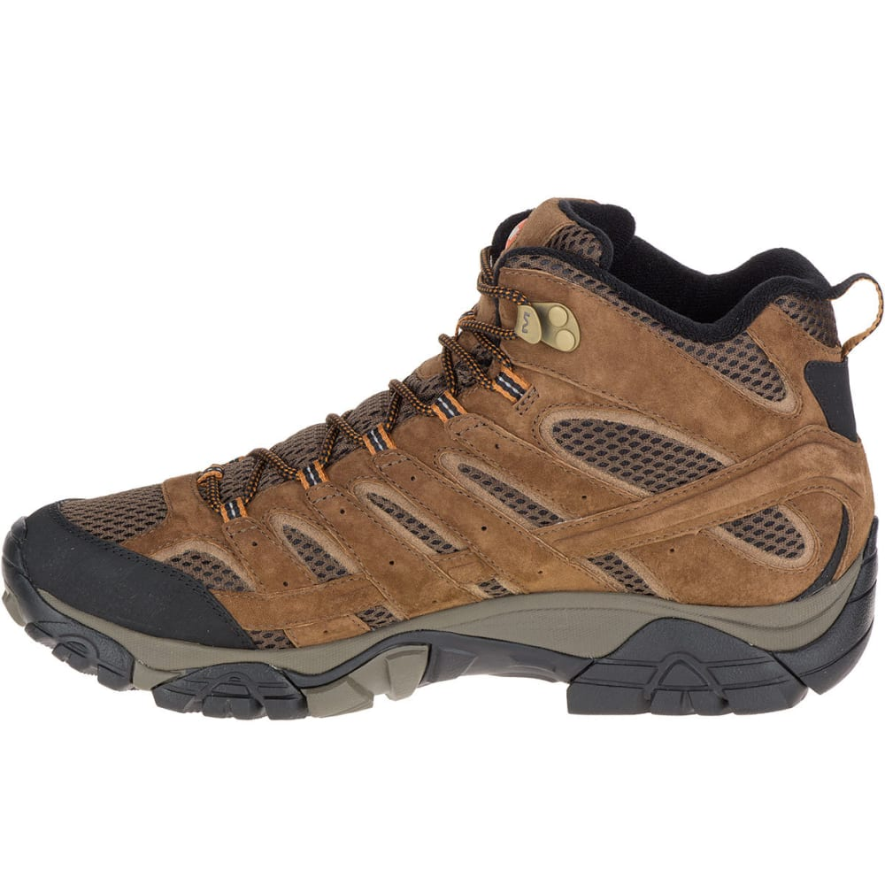 MERRELL Men's Moab 2 Mid Waterproof Hiking Boots, Earth, Wide - EARTH