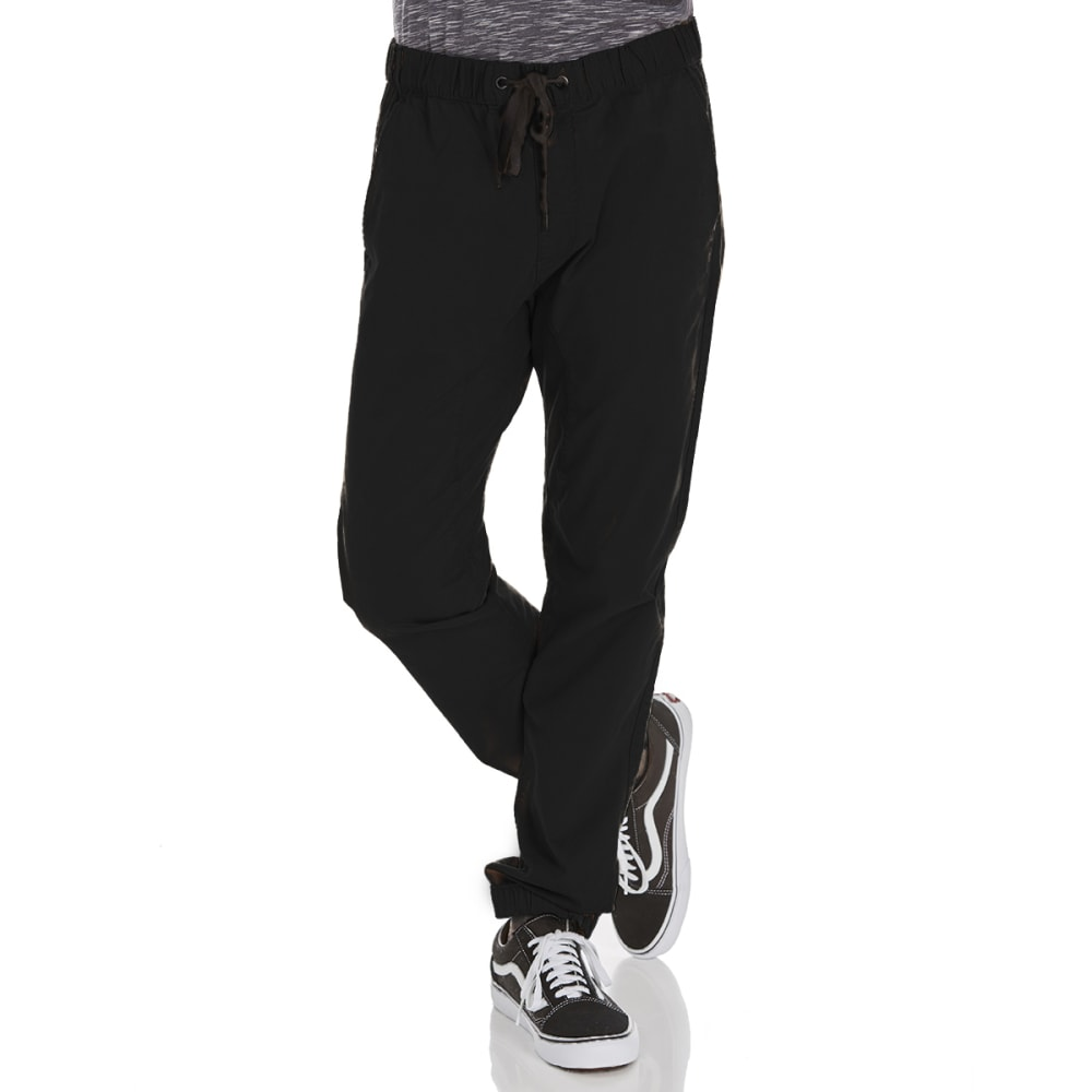 OCEAN CURRENT Guys' Backside Woven Jogger Pants - BLACK