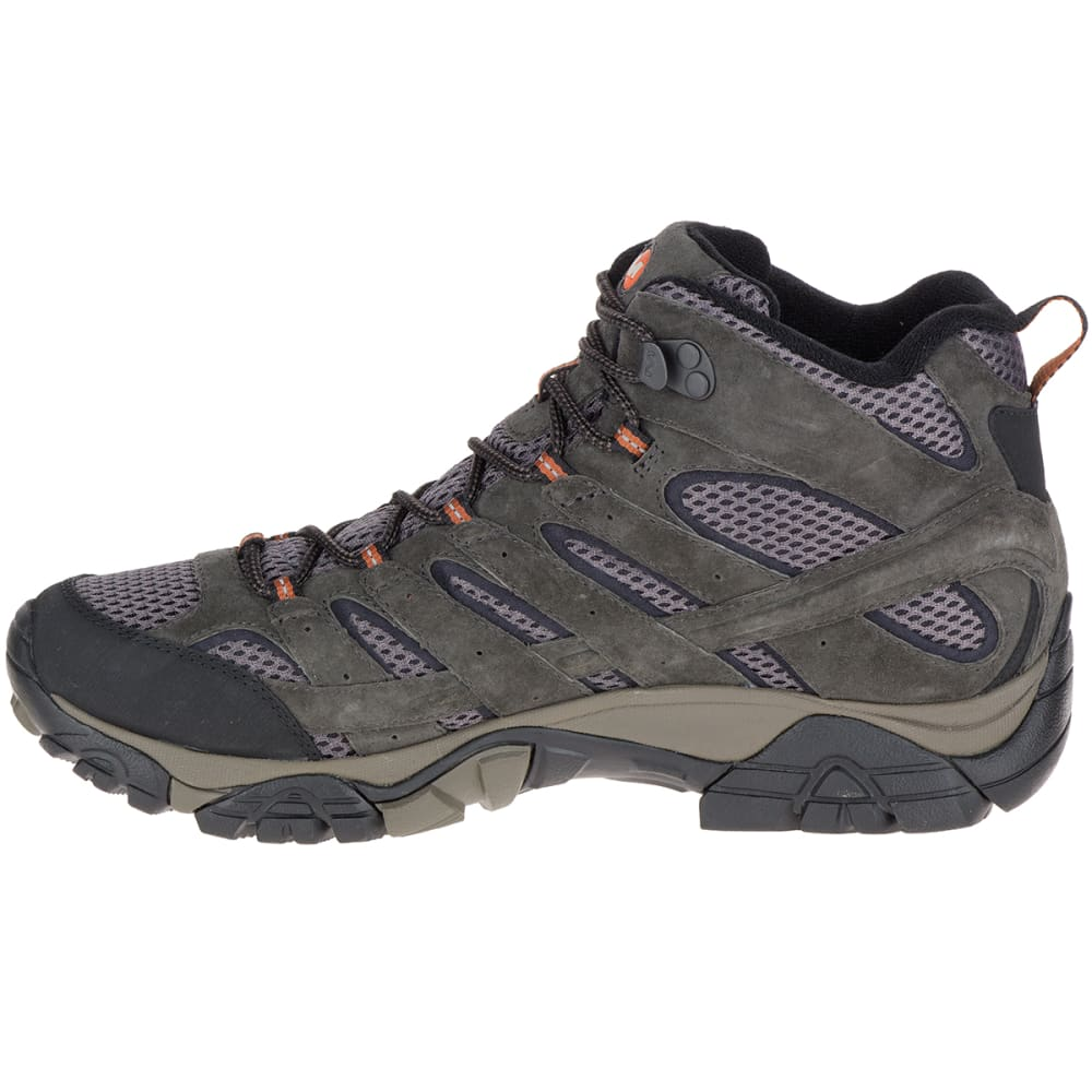 MERRELL Men's Moab 2 Mid Waterproof Hiking Boots, Beluga - BELUGA