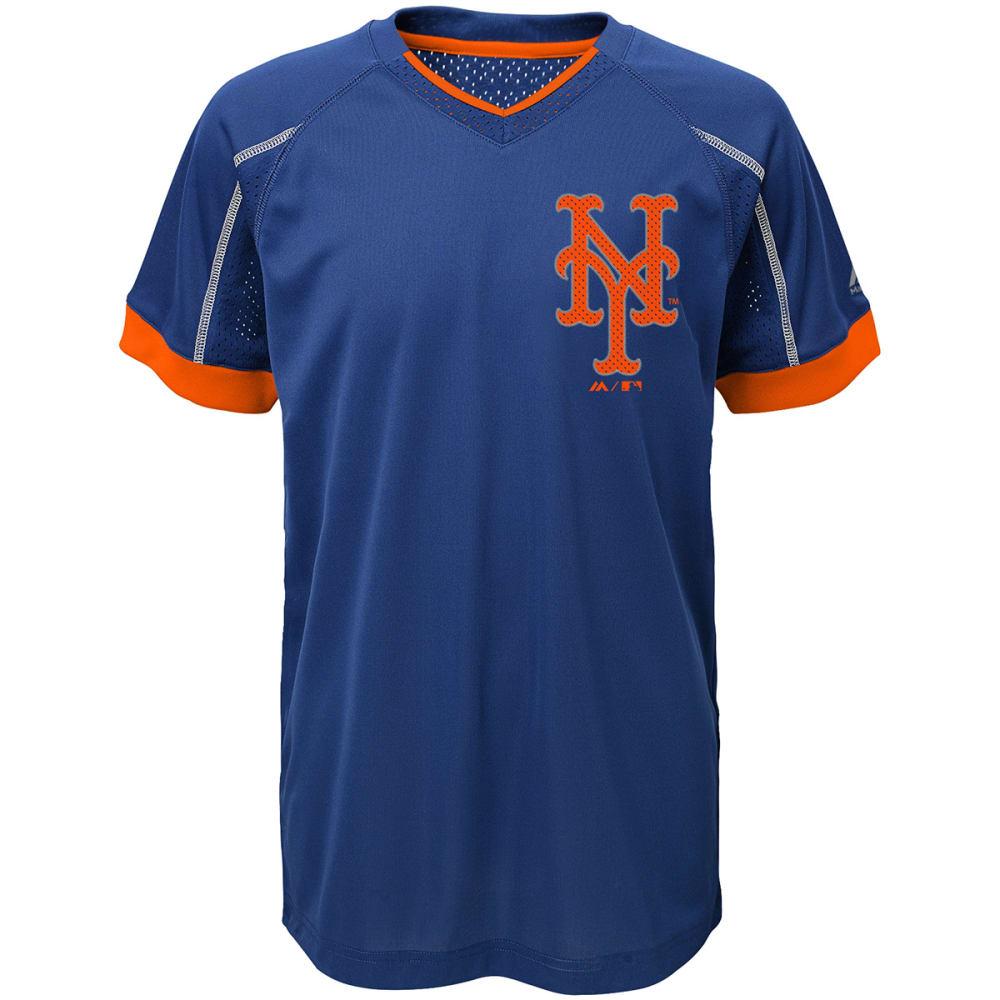 NEW YORK METS Boys' Emergence Crewneck Short-Sleeve Tee - ROYAL BLUE