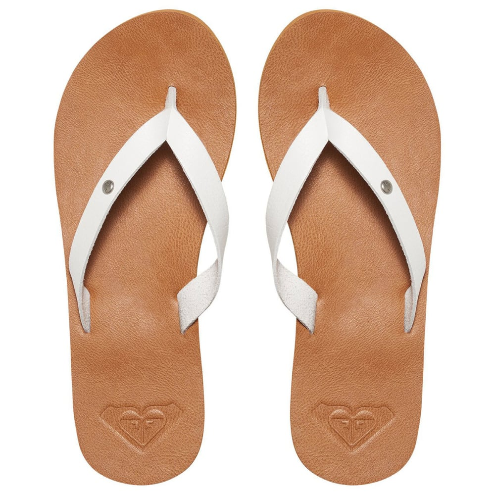 ROXY Women's Jyll Flip Flops, White - WHITE