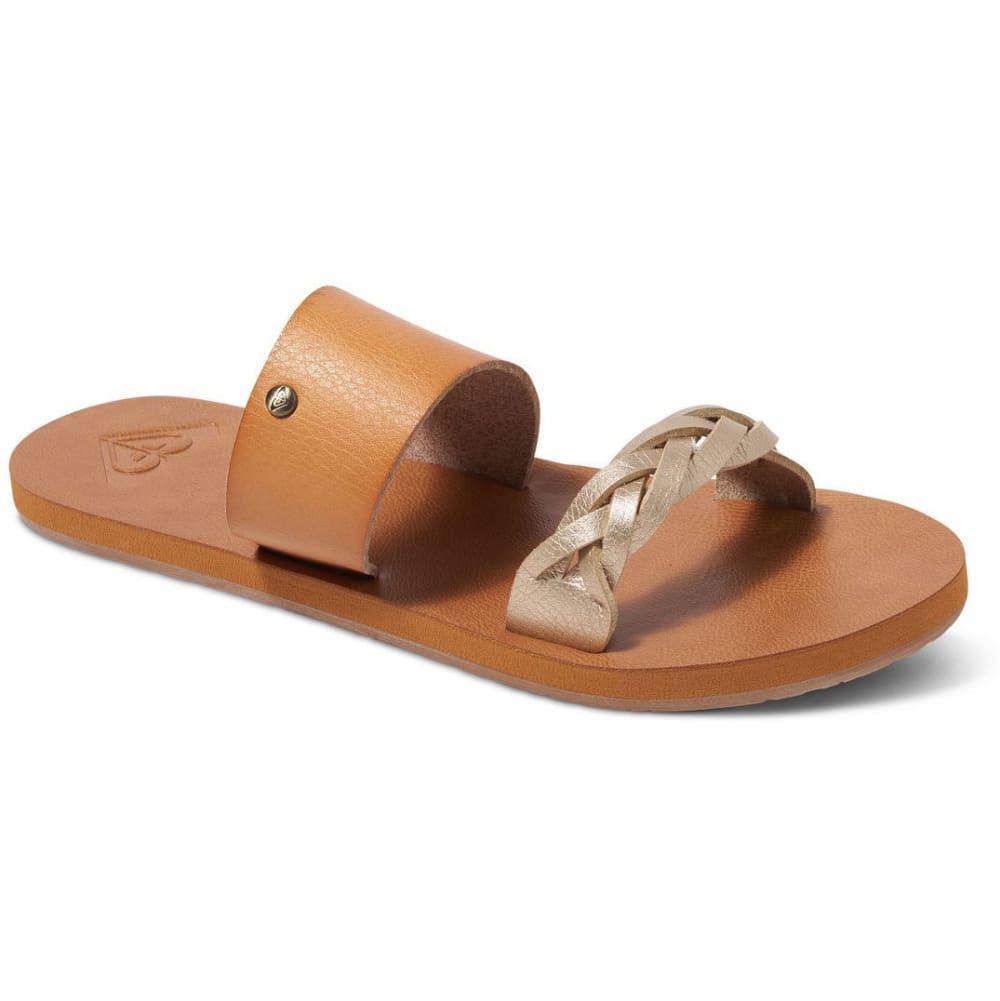ROXY Women's Tess Slide Sandals, Tan - TAN