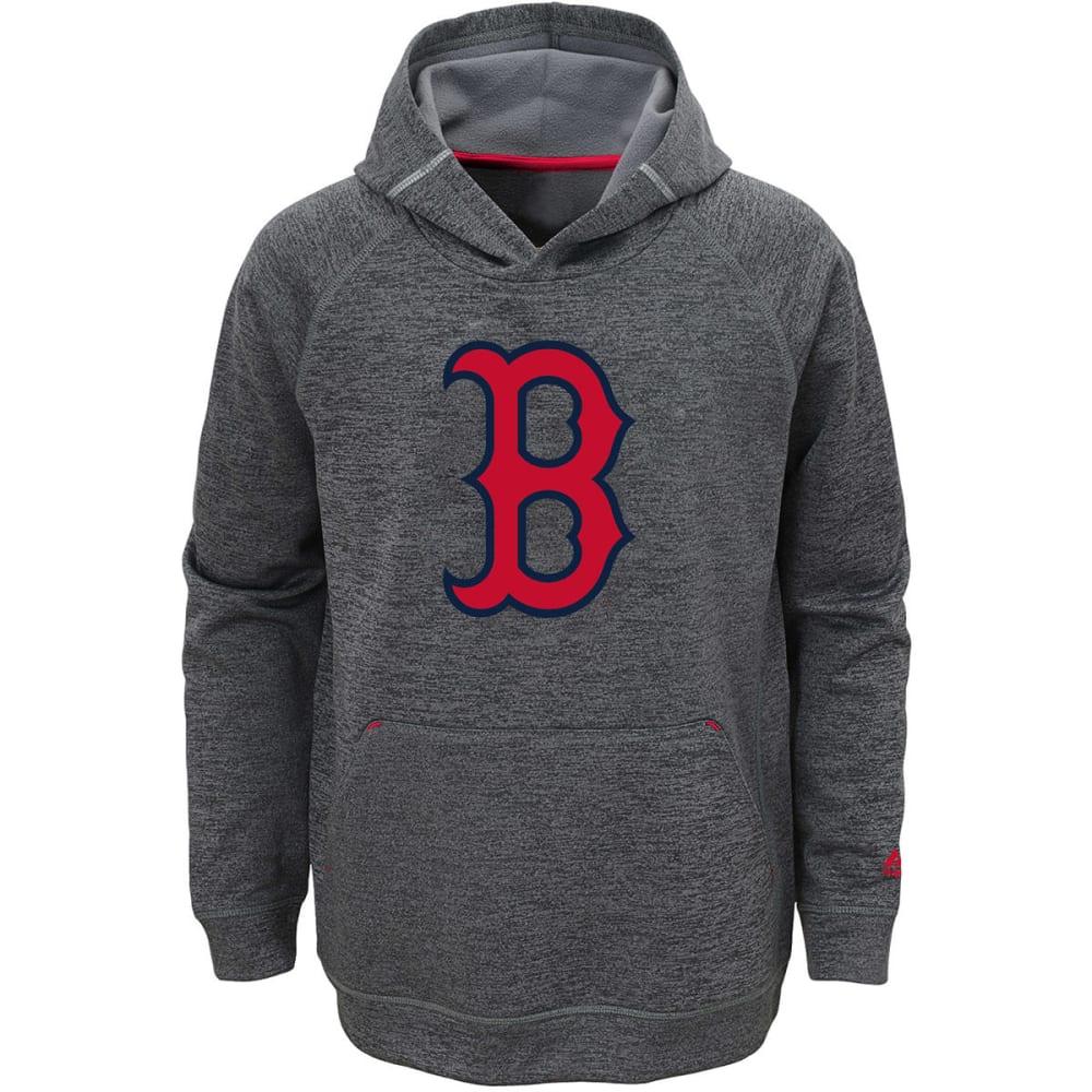 BOSTON RED SOX Boys' Club Series Fleece Pullover Hoodie - GREY