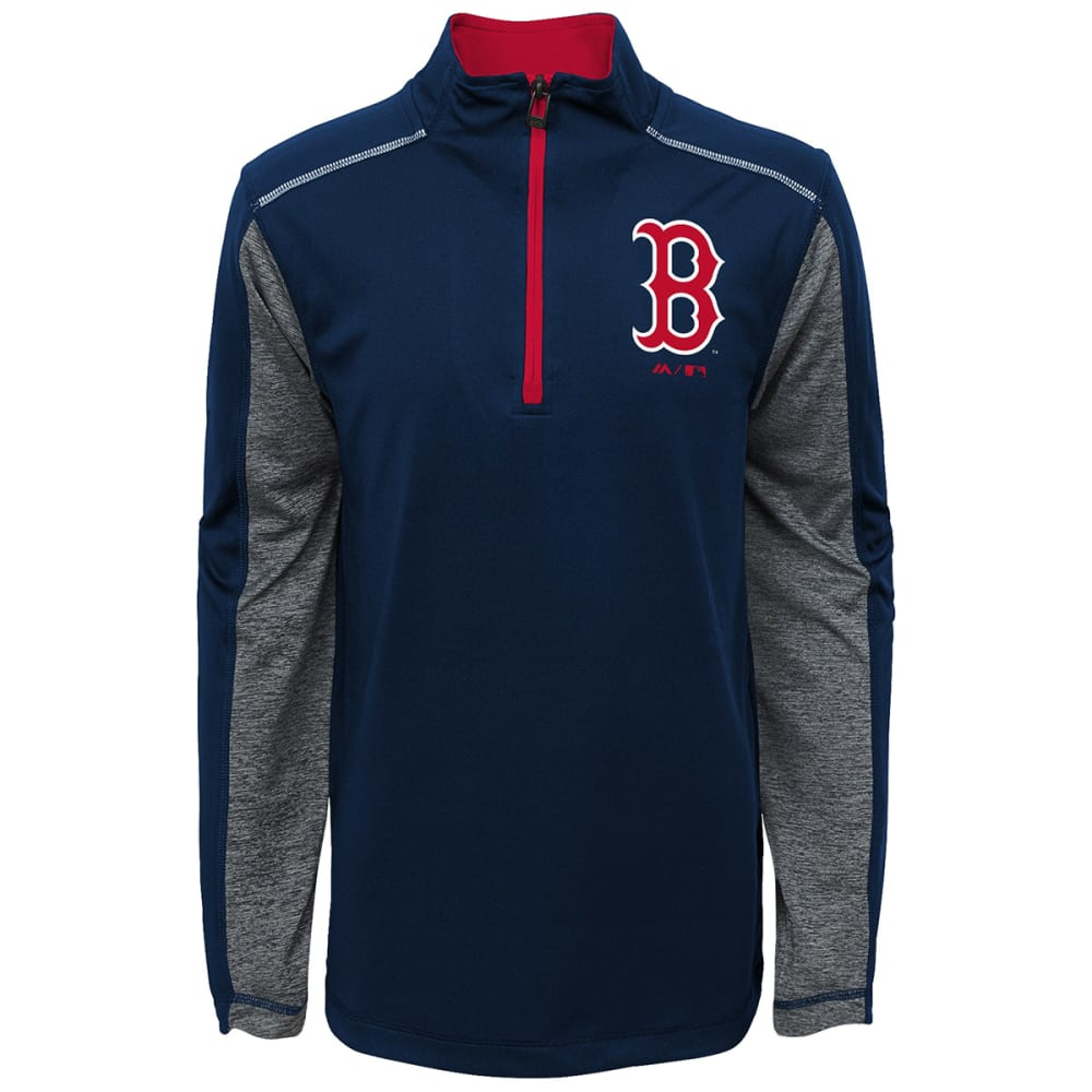 BOSTON RED SOX Boys' Club Series ¼-Zip Fleece Pullover - NAVY