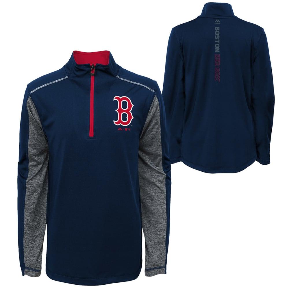 BOSTON RED SOX Boys' Club Series ¼-Zip Fleece Pullover - NAVY