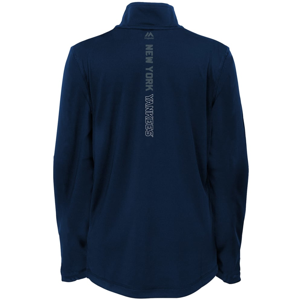 NEW YORK YANKEES Boys' Club Series ¼-Zip Fleece Pullover - NAVY