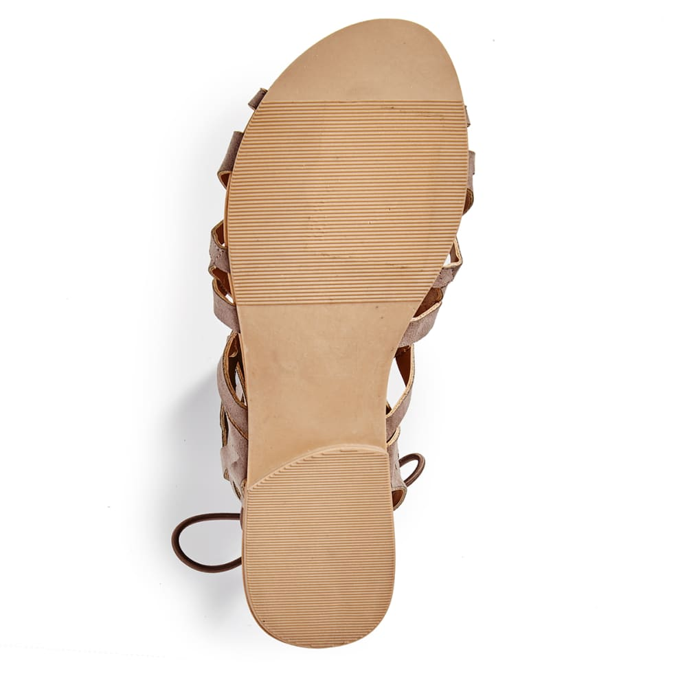 QUPID Women's Archer-199 Gladiator Sandals - TAUPE
