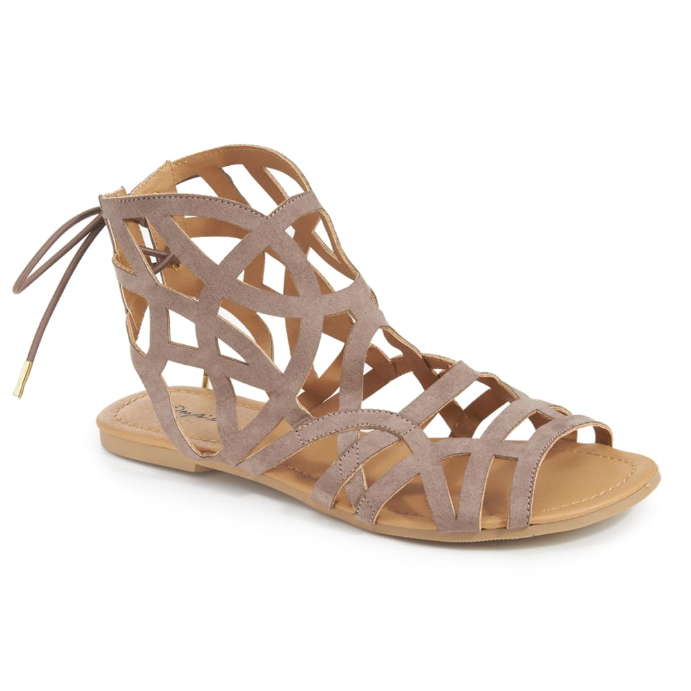 QUPID Women's Archer-199 Gladiator Sandals - TAUPE