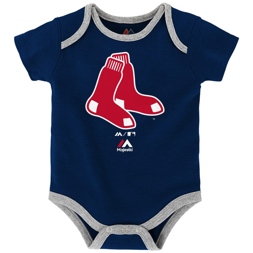 BOSTON RED SOX Infant Boys' Go Team Creeper Set, 3 Pack - ASSORTED
