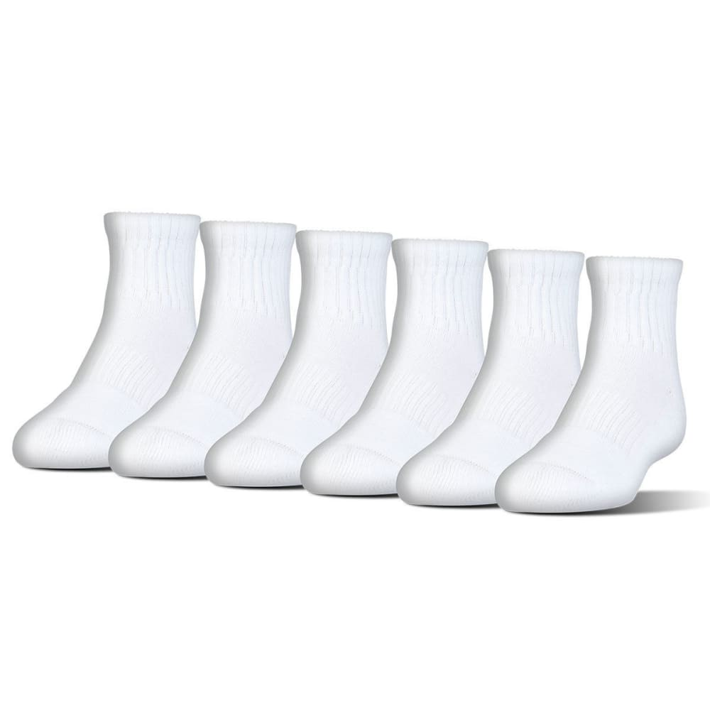 UNDER ARMOUR Men's Charged Cotton Quarter Socks, 6 Pack L