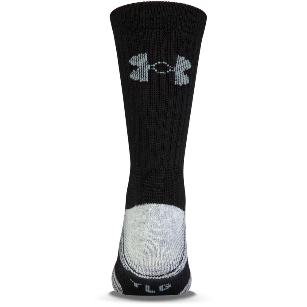 UNDER ARMOUR Men's Heatgear Tech Crew Socks, 3 Pack - BLACK
