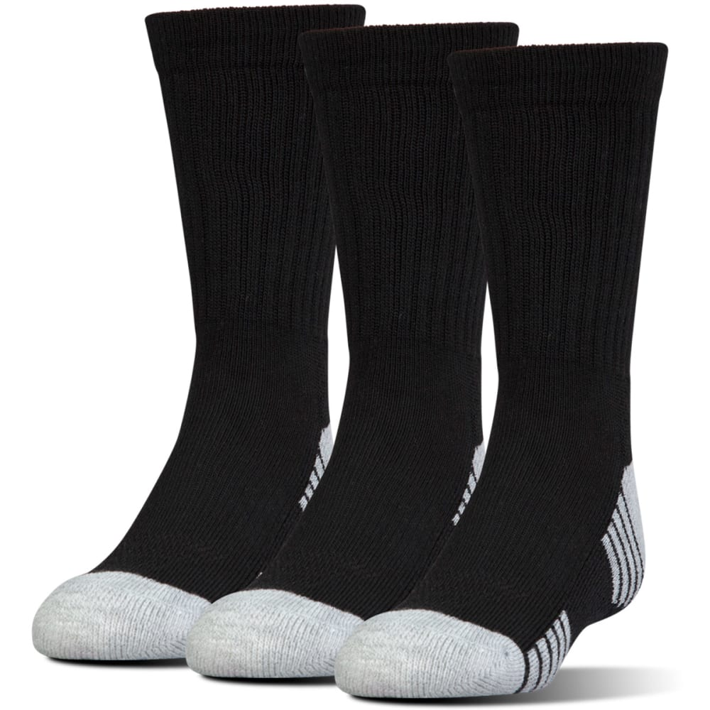 Under Armour Men's Heatgear Tech Crew Socks, 3 Pack - Black, L