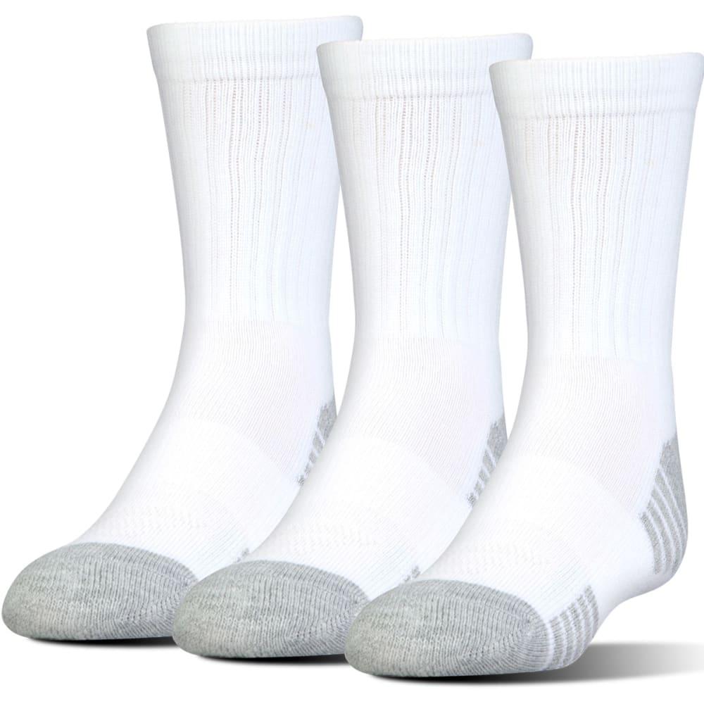 UNDER ARMOUR Men's Heatgear Tech Crew Socks, 3 Pack - WHITE