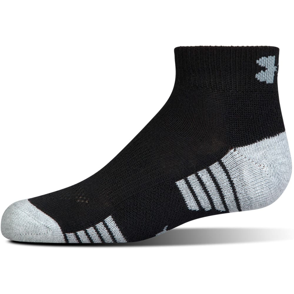UNDER ARMOUR Men's Heatgear  Low-Cut Socks, 3 Pack - BLACK